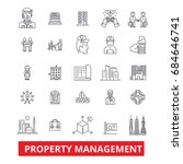 property management ... | Shutterstock .eps vector #684646741