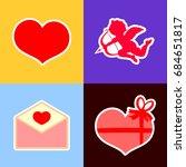 set valentines day icons ...