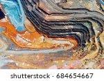 copper mine open pit atalaya... | Shutterstock . vector #684654667