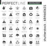 black classic green ecology web ... | Shutterstock . vector #684660631