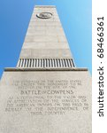 Cowpens National Battlefield Park stone monument
