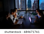 business team working with... | Shutterstock . vector #684671761