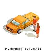 car kit isometric images... | Shutterstock .eps vector #684686461