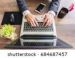 businessman working on their... | Shutterstock . vector #684687457