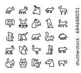 animals line vector icons 2 | Shutterstock .eps vector #684688051
