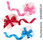decorative gift box with bow... | Shutterstock .eps vector #684688519