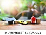 Small photo of basic factor for invest education car and house concept business finance investment