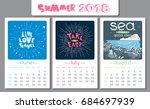 calendar design for 2018 year.... | Shutterstock .eps vector #684697939