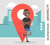 location pin. navigating in the ...   Shutterstock .eps vector #684698179