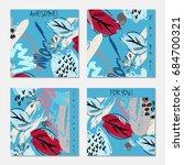 hand drawn creative invitation... | Shutterstock .eps vector #684700321