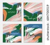 hand drawn creative invitation... | Shutterstock .eps vector #684700519