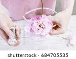 florist at work  how to make... | Shutterstock . vector #684705535