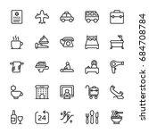 hotel line vector icons 1 | Shutterstock .eps vector #684708784