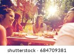 leisure  holidays  eating ... | Shutterstock . vector #684709381