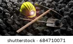 Miner's Helmet  Pickaxe And...