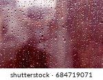 rain water drops on glass ... | Shutterstock . vector #684719071