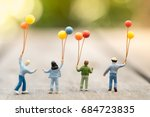 family and kid concept. group... | Shutterstock . vector #684723835