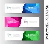 abstract geometric vector web... | Shutterstock .eps vector #684724231