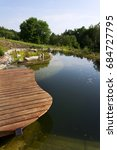 wooden pier at natural swimming ... | Shutterstock . vector #684727795