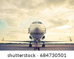 business plane parked at the... | Shutterstock . vector #684730501