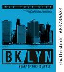 photo print brooklyn... | Shutterstock . vector #684736684