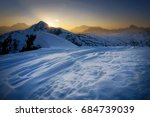 Winter Landscape Of Passo Giau...