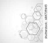 abstract hexagon background  ... | Shutterstock .eps vector #684739645