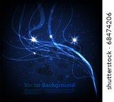 winter background. vector eps 10 | Shutterstock .eps vector #68474206