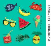 summer icons   Shutterstock .eps vector #684745339
