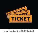 ticket vector drawing | Shutterstock .eps vector #684746941