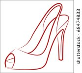 Woman's Shoe  Vector Sketch