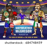 professional boxing super fight ... | Shutterstock .eps vector #684748459