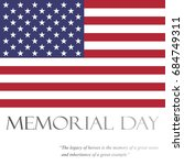 memorial day  vector | Shutterstock .eps vector #684749311