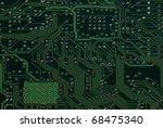 close up detail green circuit...   Shutterstock . vector #68475340