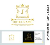 luxury logo template in vector... | Shutterstock .eps vector #684753685