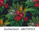 vector seamless pattern with... | Shutterstock .eps vector #684755515