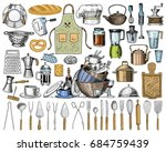 apron or pinaphora and hood ... | Shutterstock .eps vector #684759439