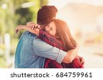 young couple asian to happy... | Shutterstock . vector #684759961