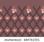 elegant candy trendy border in... | Shutterstock .eps vector #684761551