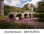 old stone bridge in killarney...   Shutterstock . vector #684763921