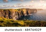 evening sunset on cliffs of... | Shutterstock . vector #684764029