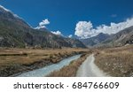on a wide road from mungji... | Shutterstock . vector #684766609