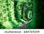 old railway line. very long... | Shutterstock . vector #684769249