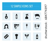 set of 12 editable barbershop...