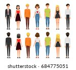 vector illustration of men and... | Shutterstock .eps vector #684775051