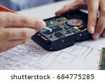 science and technology of... | Shutterstock . vector #684775285