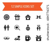 set of 12 editable heart icons. ...
