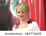 Small photo of Westwood, CA, USA; June 28, 2012; Emma Stone arriving to the premiere of 'The Amazing Spiderman'.