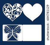 set of wedding invitation ... | Shutterstock .eps vector #684781129