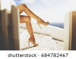 woman legs and summer time  | Shutterstock . vector #684782467